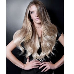 "Bellami 20"" Ombré Clip Ins - Dirty Blond/Platinum"